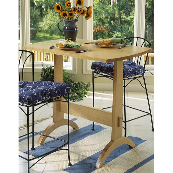Shaker-Style Tall Dining Trestle Table
