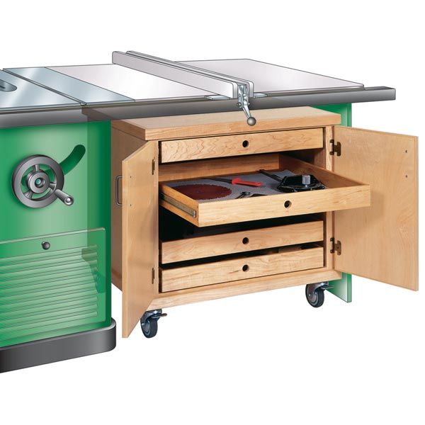 Tablesaw Accessories Cabinet Woodworking Plan, Workshop & Jigs Shop Cabinets, Storage, & Organizers