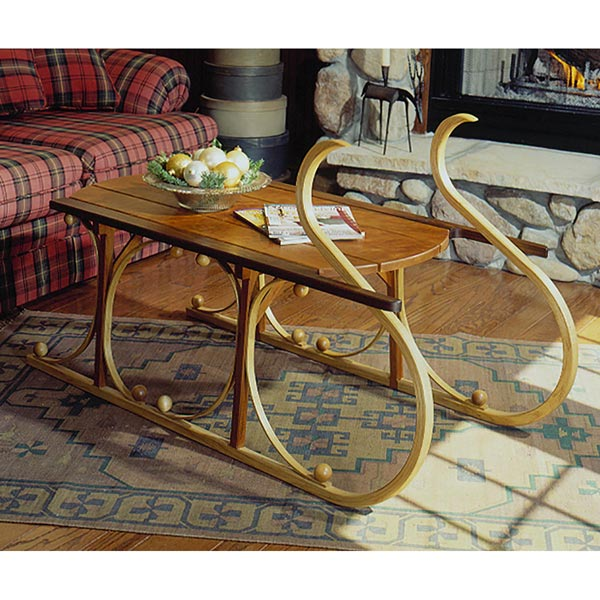 Yuletide Sleigh Coffee Table Woodworking Plan, Holidays Furniture Tables