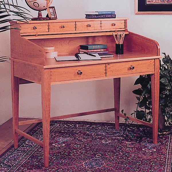 Rolltop Writing Desk Woodworking Plan, Furniture Desks