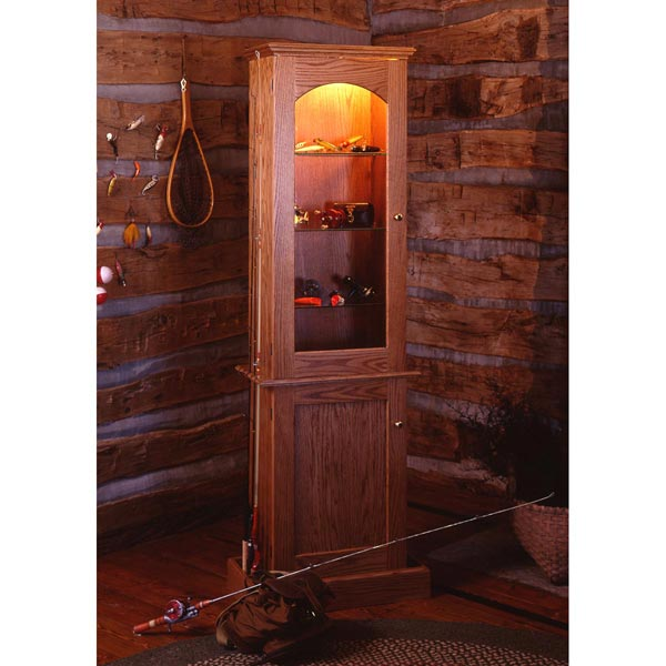 Anglers Showcase Cabinet Woodworking Plan, Furniture Cabinets & Storage