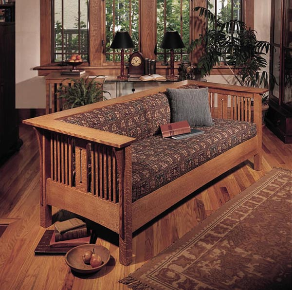 Arts and Crafts Mission Sofa and Chair Woodworking Plan, Furniture Seating