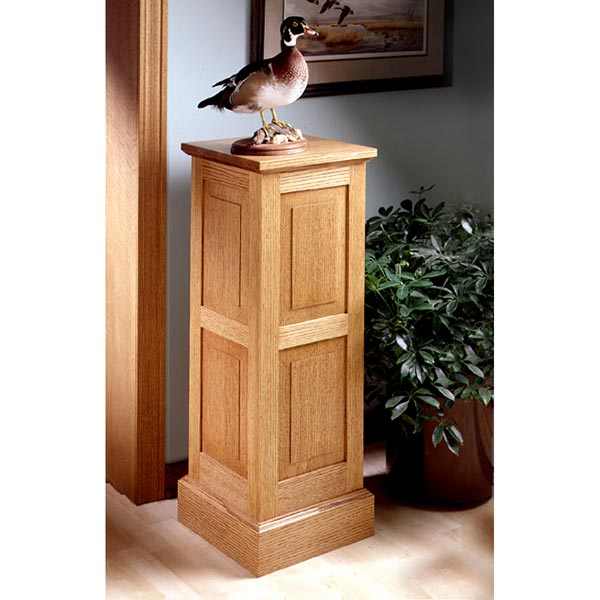 Panel-and-Frame Pedestal Woodworking Plan, Furniture Bookcases & Shelving