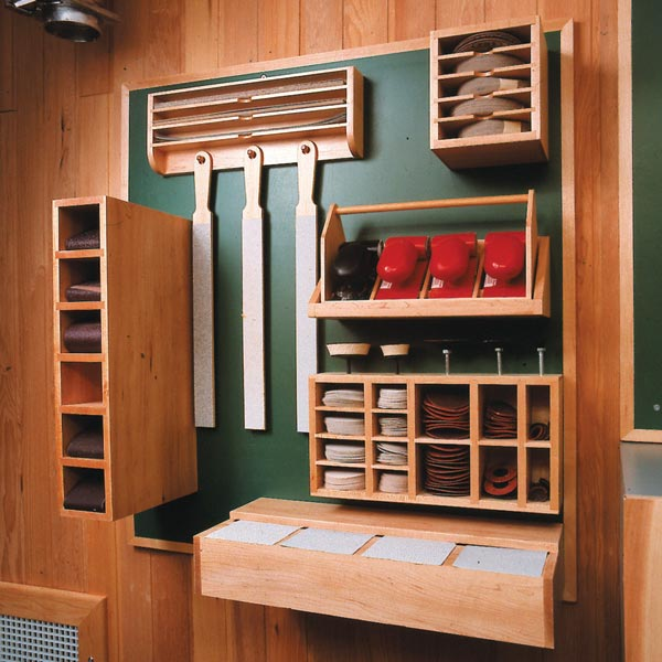 Sanding Supply Center Woodworking Plan, Workshop & Jigs Shop Cabinets, Storage, & Organizers