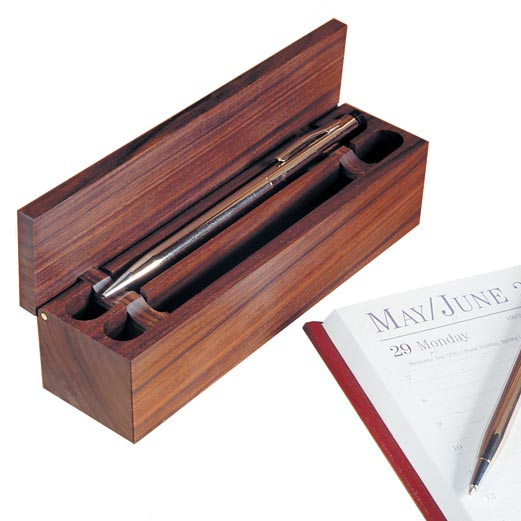Flip-Up Pen Box Woodworking Plan, Gifts & Decorations Office Accessories Gifts & Decorations Boxes & Baskets