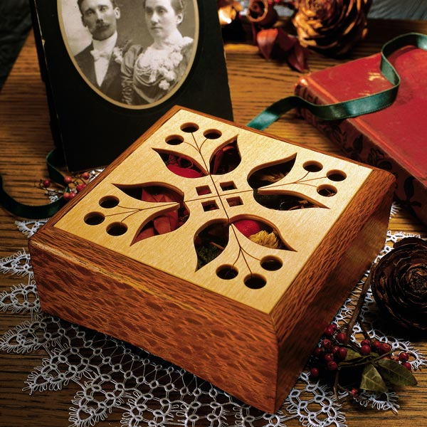 Potpourri Box Woodworking Plan, Gifts & Decorations Boxes & Baskets Gifts & Decorations Scrollsaw, Carving, & Decorative Projects