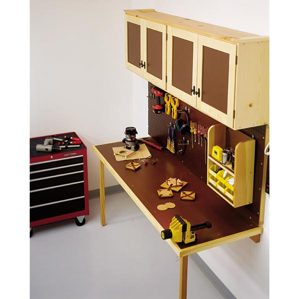 Space-Saving Work Center Woodworking Plan, Workshop & Jigs Workbenches
