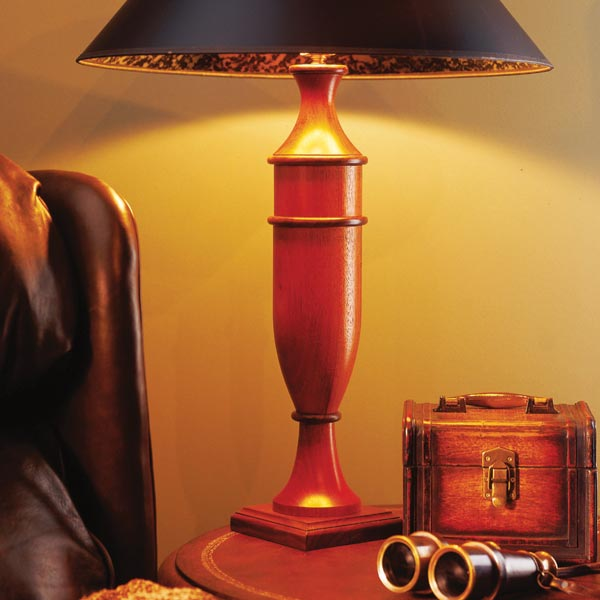 Turned Table Lamp