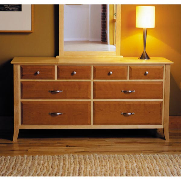 Maple Amp Cherry Eight Drawer Dresser Woodworking Plan From