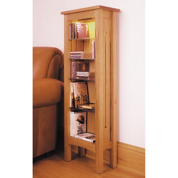 Arts and Crafts CD & DVD Media Storage Rack