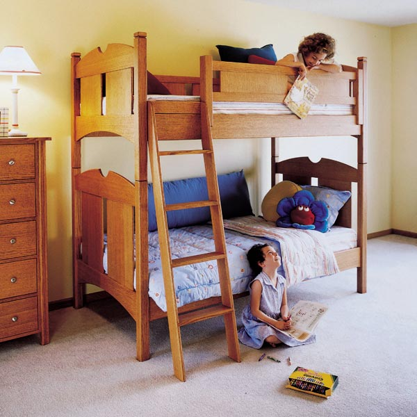 Kid's Oak Bunk Beds Woodworking Plan, Furniture Beds & Bedroom Sets Toys & Kids Furniture
