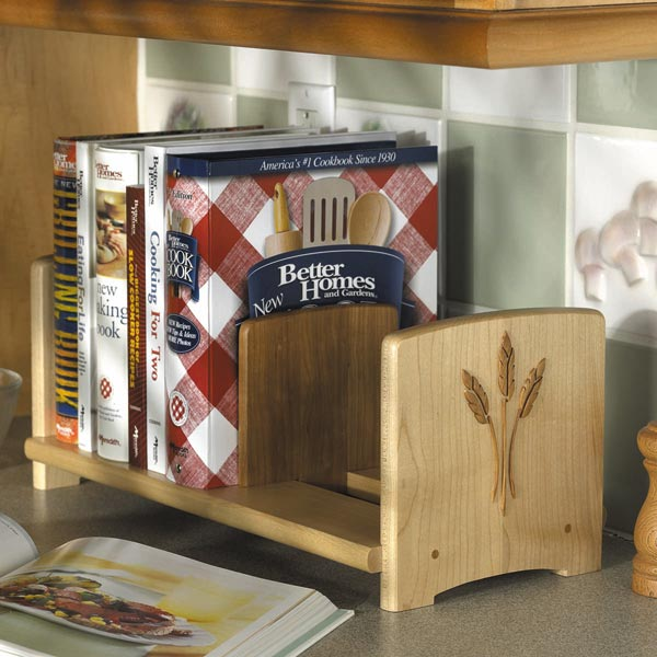 Chef's Bookshelf Woodworking Plan, Gifts & Decorations Kitchen Accessories Furniture Bookcases & Shelving