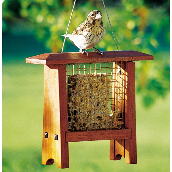 Suet Bird Feeder Woodworking Plan, Outdoor For Birds & Pets