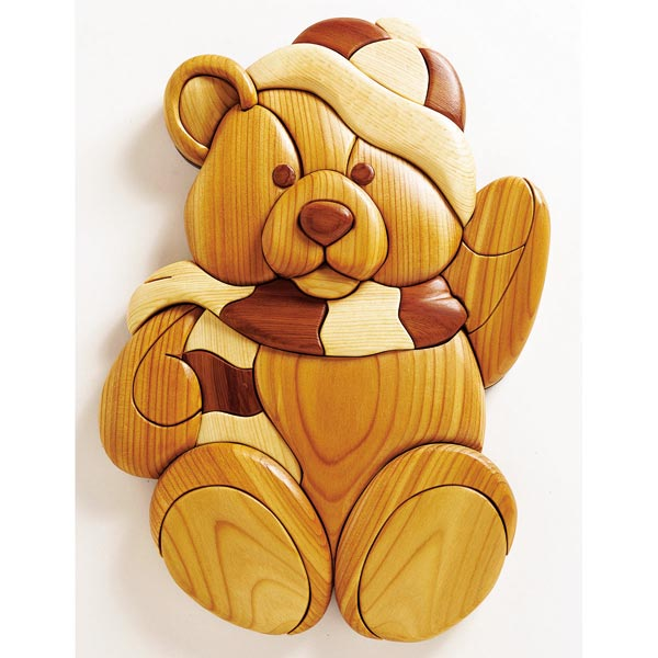 Intarsia Teddy Woodworking Plan, Gifts & Decorations Scrollsaw, Carving, & Decorative Projects