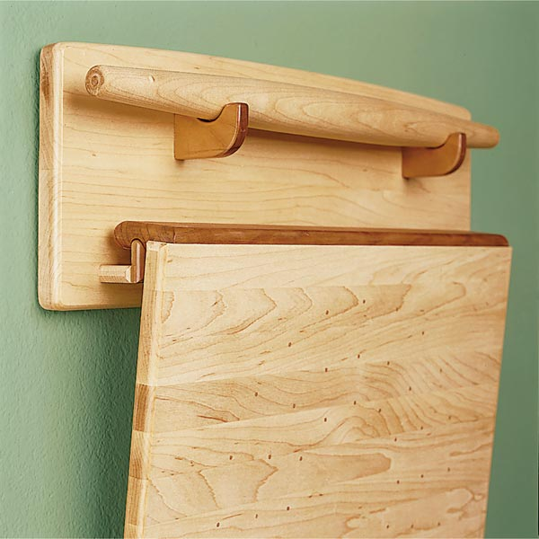Baker's Trio - Pastry Board, Rolling Pin, & Wall Rack