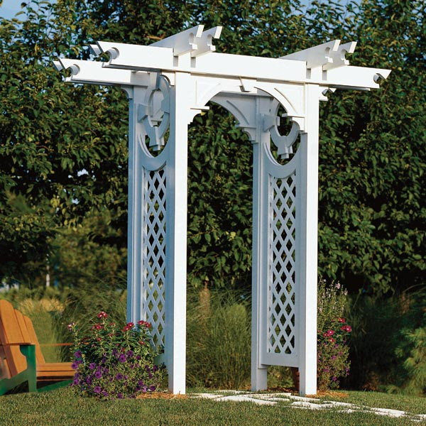Trellised Arbor Woodworking Plan from WOOD Magazine