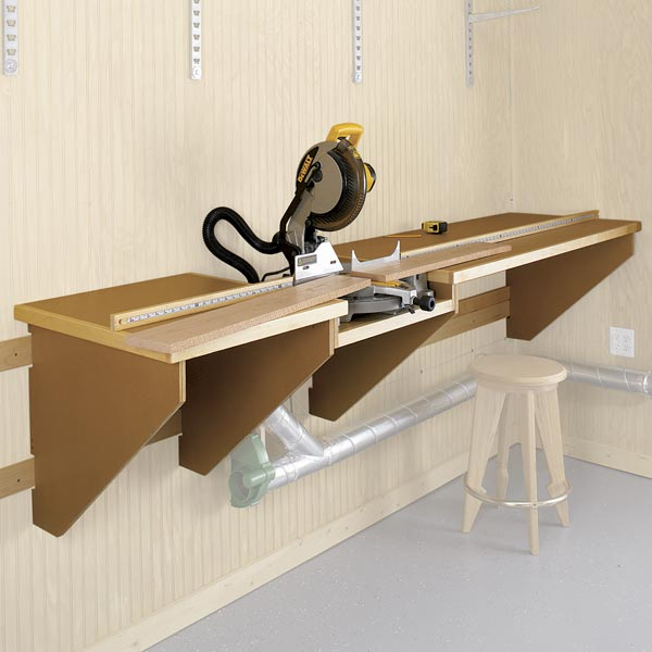 On-the-Mark Mitersaw Station Woodworking Plan, Workshop & Jigs Tool Bases & Stands