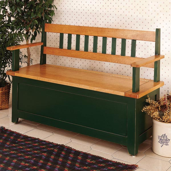 Country Hall Seat Woodworking Plan, Furniture Seating