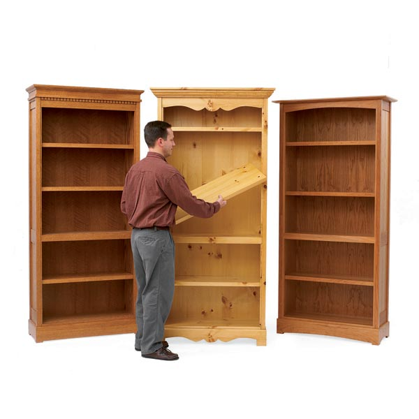 Trio of Bookcases: Trio of Bookcases Woodworking Plan, Furniture Bookcases & Shelving