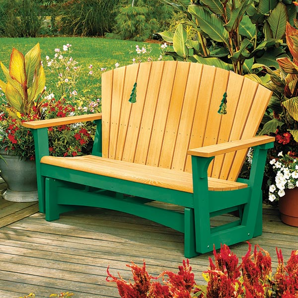 Easy Glider Woodworking Plan, Outdoor Outdoor Furniture