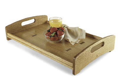 Routed-inlay serving tray
