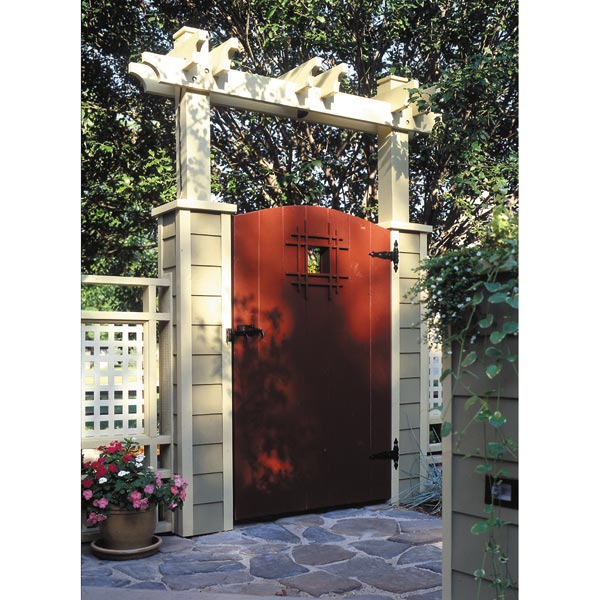 Grand Entrance Garden Gate Woodworking Plan, Outdoor Backyard Structures