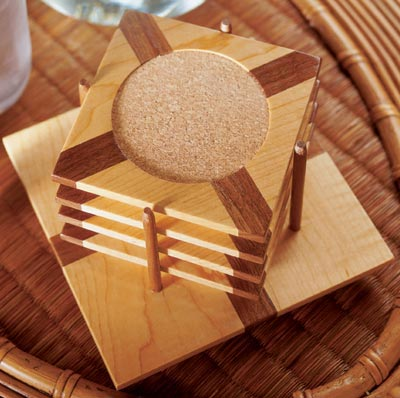Eye-catching coasters Woodworking Plan from WOOD Magazine