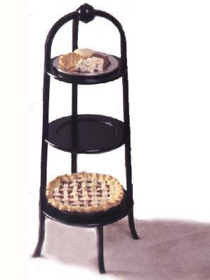 Three-tiered pastry stand