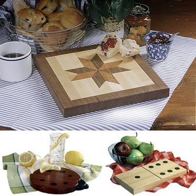 Whimsical trio of cutting boards