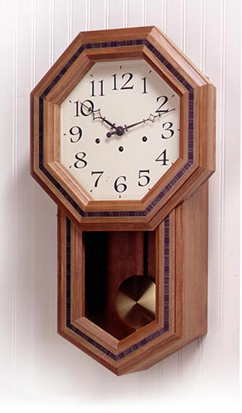 Schoolhouse Pendulum Clock Woodworking Plan, Gifts & Decorations Clocks