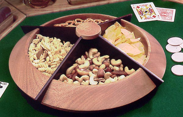 Turned Lazy Susan snack tray
