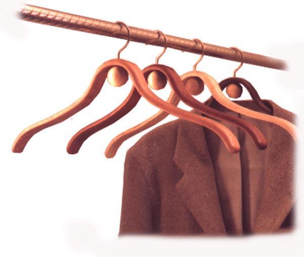 Bent-laminated hangers