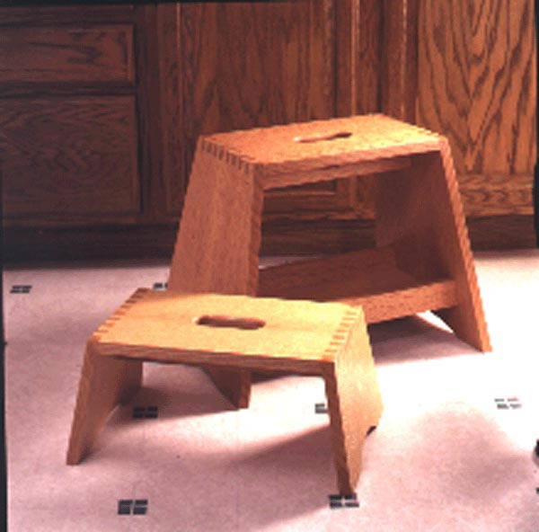 Step-right-up stepstool Woodworking Plan, Gifts & Decorations Kitchen Accessories