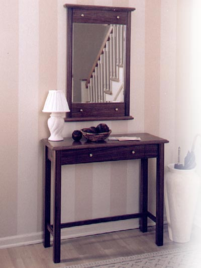 Entry Hall Table and Mirror