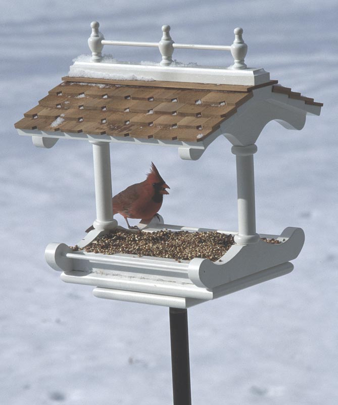 Victorian-style birdfeeder