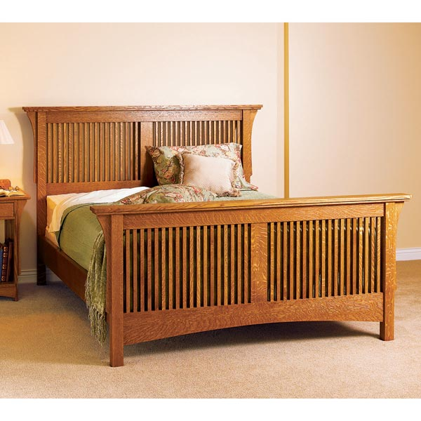 arts crafts bed mission style woodworking plan furniture beds bedroom sets