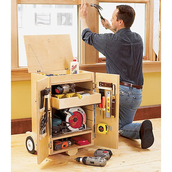 Go-Anywhere Tool Caddy Woodworking Plan, Workshop & Jigs Shop Cabinets, Storage, & Organizers
