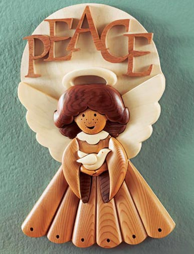 Intarsia masterpeace angel