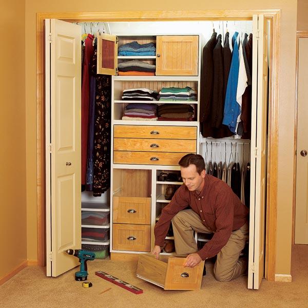 Super-flexible closet storage system Woodworking Plan, Furniture Cabinets & Storage