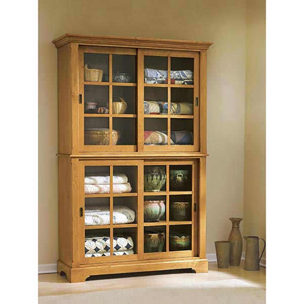 Sliding-Door Cupboard Woodworking Plan, Furniture Cabinets & Storage