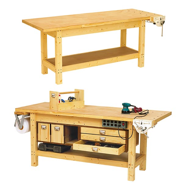 Basic Workbench and 6 ways to beef it up Woodworking Plan, Workshop & Jigs Workbenches