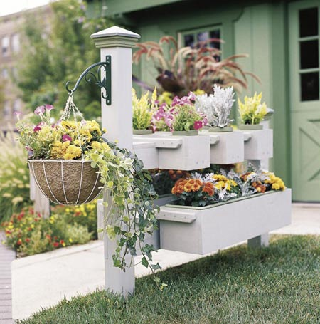 Fence planter Woodworking Plan, Outdoor Planters
