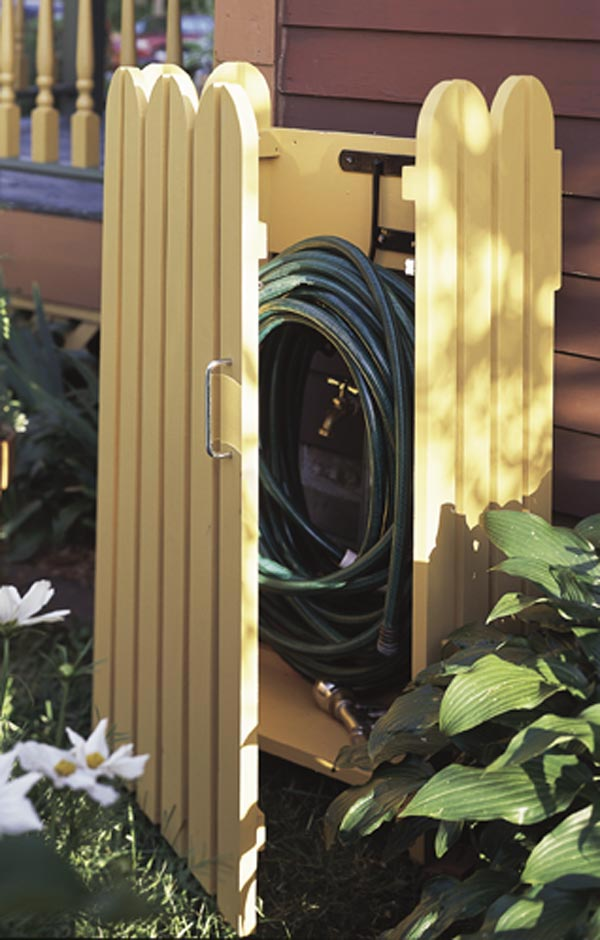 Garden hose hider Woodworking Plan, Outdoor Outdoor Accessories