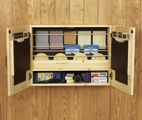 Get-It-All Together Sandpaper Cabinet Woodworking Plan, Workshop & Jigs Shop Cabinets, Storage, & Organizers