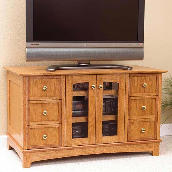 Compact Entertainment Center Woodworking Plan, Furniture Entertainment Centers