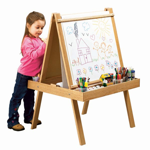 Young Artist's Easel Woodworking Plan, Toys & Kids Furniture