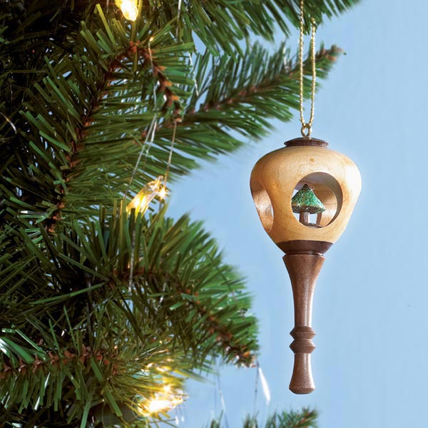 Peek-Through Holiday Ornament Woodworking Plan, Turning Projects Holidays