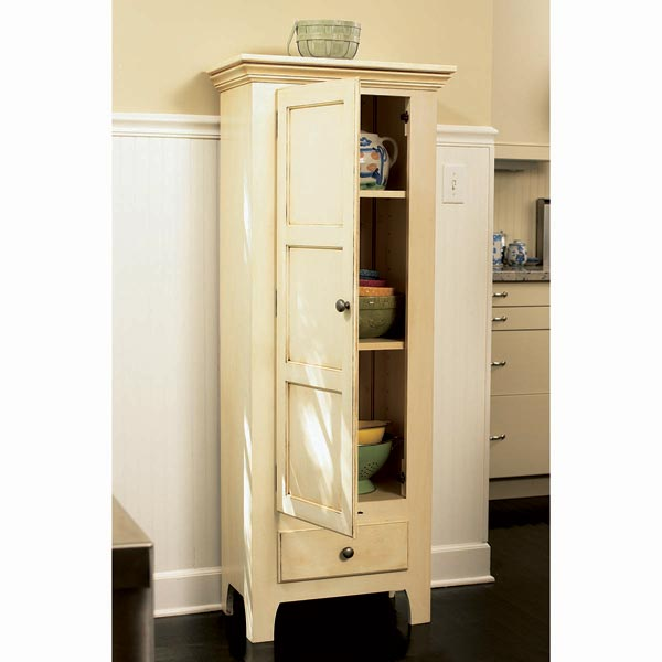 Country Classic Chimney Cupboard Woodworking Plan, Furniture Cabinets & Storage