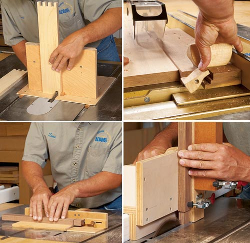 4 Task-tackling Tablesaw Jigs