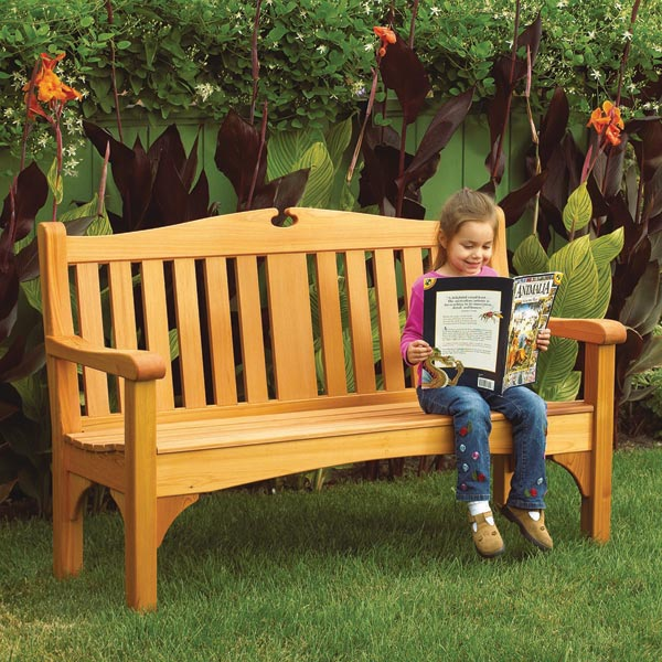 Comfy Classic Garden Bench Woodworking Plan, Outdoor Outdoor Furniture